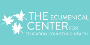 the logo for The Ecumenical Center for Education, Counseling, health